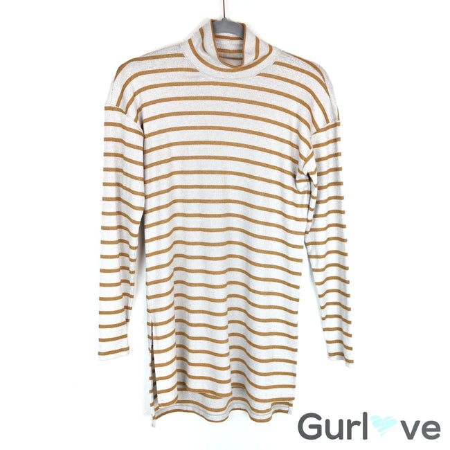 Anthropologie Vanessa Virginia Striped Turtleneck Tunic Size XS