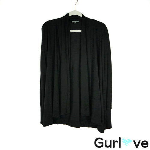James Perse Size M Black Cardigan Sweater