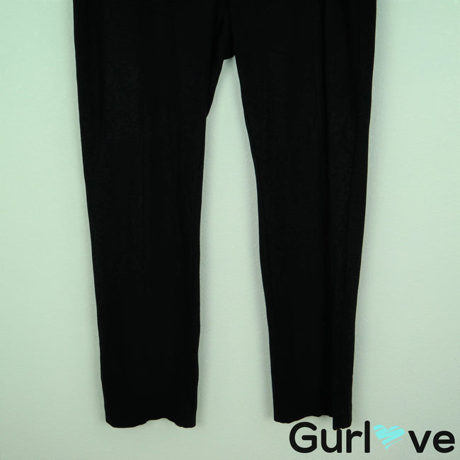 CAbi 12 Black Ponte Knit Capote Pants