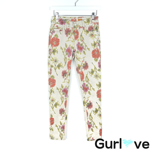 Pilcro by Anthropologie 26 Floral Stet Skinny Jeans