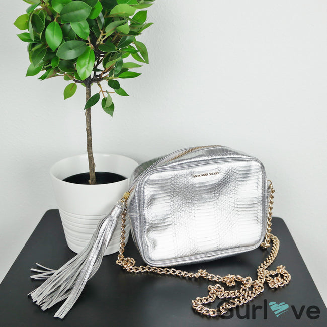 SALE Victoria's Secret Silver Crossbody Chain Tassel