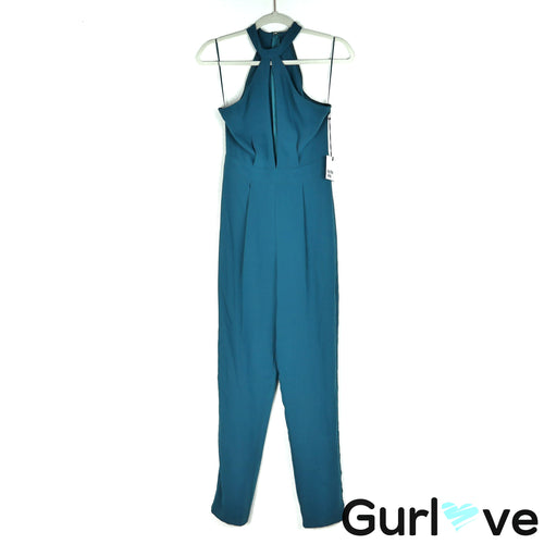 NWT By The Way Teal Halter Jumpsuit Size XS
