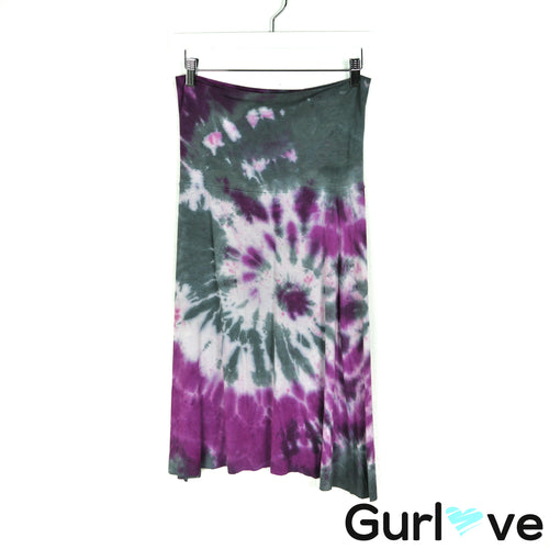 Love Tanjane Size M Tye Dye Pink Gray Stretch Skirt