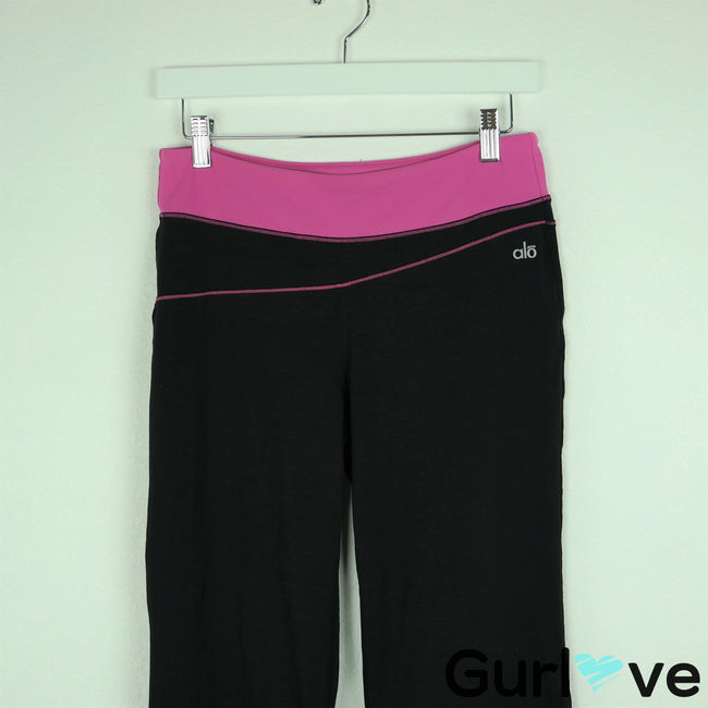 Alo Yoga Size M Black Pink Wide Leg Pants