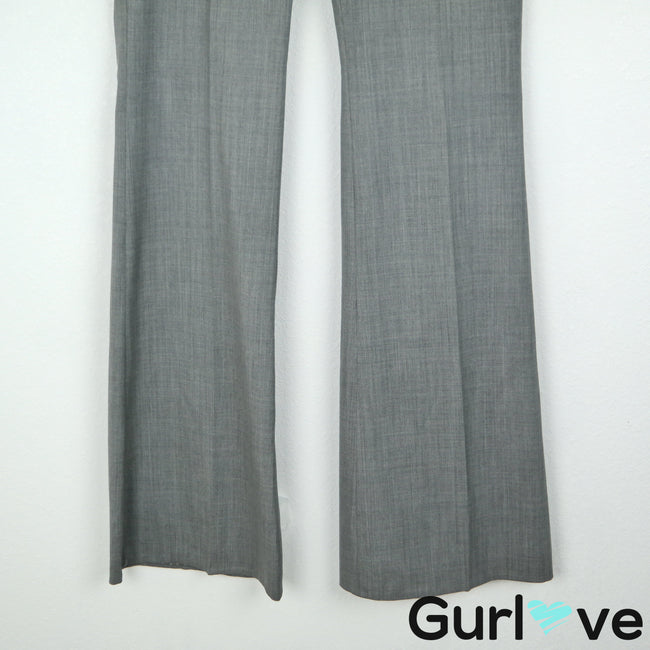 Theory Size 4 Gray Wide Leg Pants