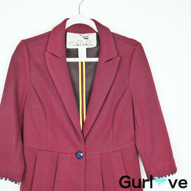 Anthro Tabitha Chandelier Knit Blazer Jacket Size M
