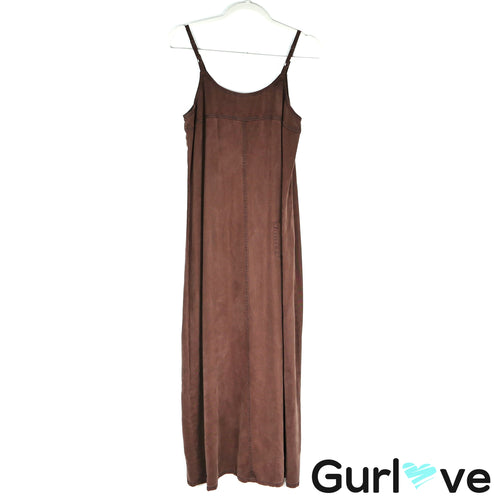 Anthro hype Brown Rayon Tencel Oversize dress Size S