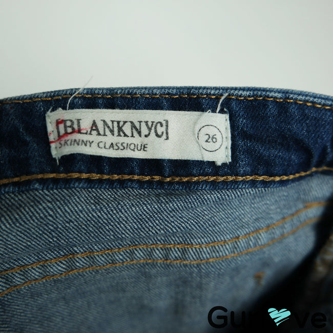 BLANK NYC Skinny Classique Destroyed Jeans Size 26