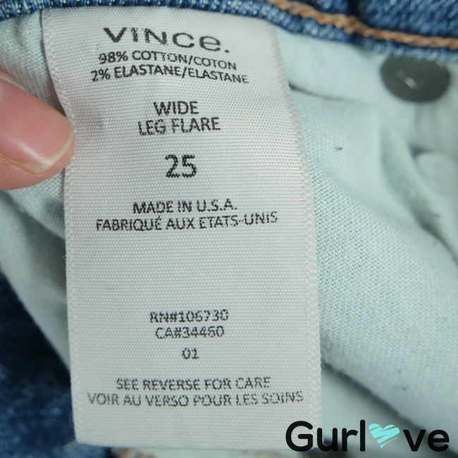 VINCE High Waist Wide Leg Flare Jeans Size 25