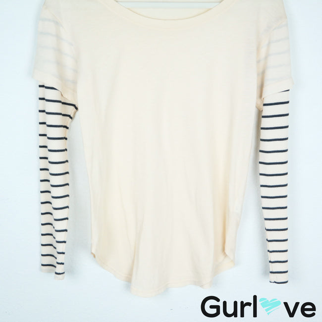 Splendid Layer Stripes Long Sleeve Size XS