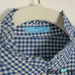 J. McLaughlin Size XS Blue Gingham Button Shirt