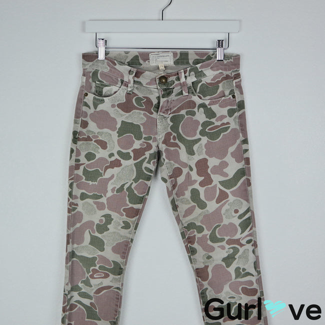 Current Elliot Size 24 The Ankle Skinny Grey Camo Jeans