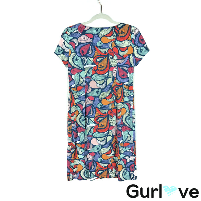 Katherine Way Size S Multicolor Stretch Casual Dress