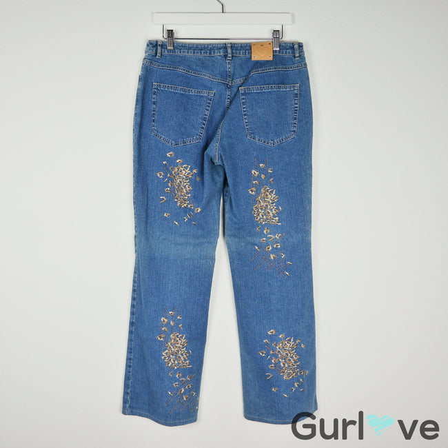Escada Embroider Jeans Size 42