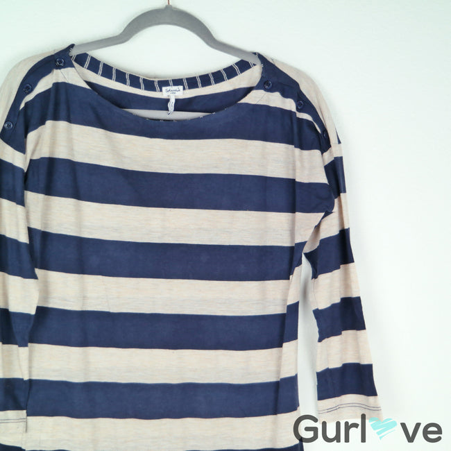Splendid Striped T Shirt Dress Size L