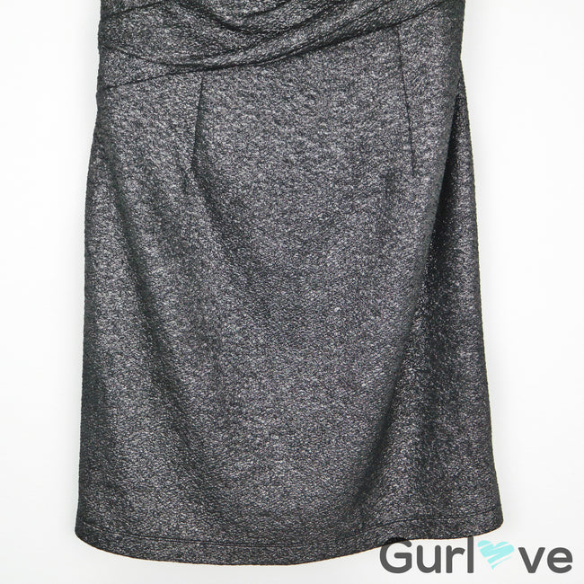 Vince Camuto Gunmetal Metallic Strapless Dress Size 10