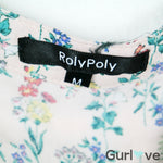 Rolypoly Half Button Floral Top Size S