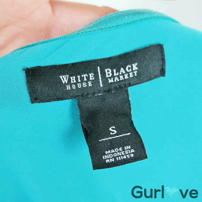 WHBM Teal One Shoulder Top Size S