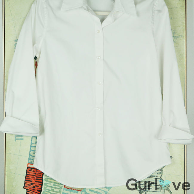 Liz Claiborne White Button Down Shirt Size S