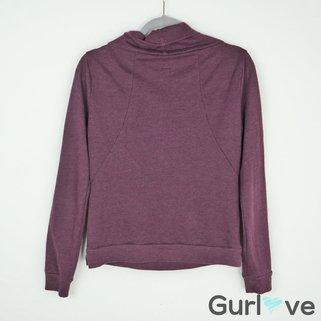 Converse Burgundy Cowl Neck Sweater Size M