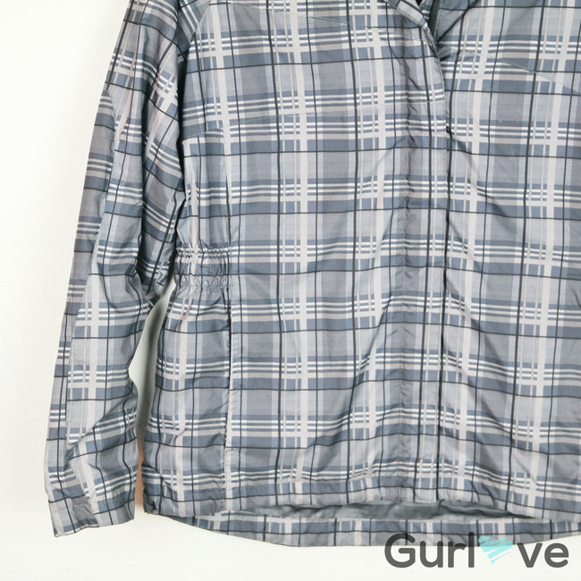 Sunice Gray Plaid Windbreaker Jacket Size M