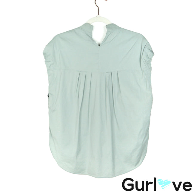 Theyskens Theory 8 Pale Green Zip Blouse
