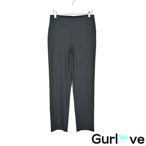 Up! 8 Charcoal Pants with Fine Pinstripe Waistband Tummy Control