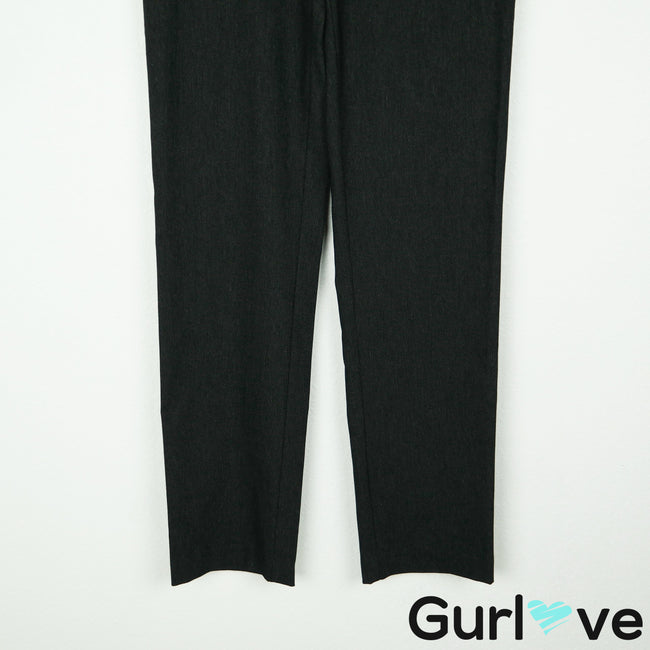 Up! Size 8 Charcoal Pants with Fine Pinstripe Waistband Tummy Control