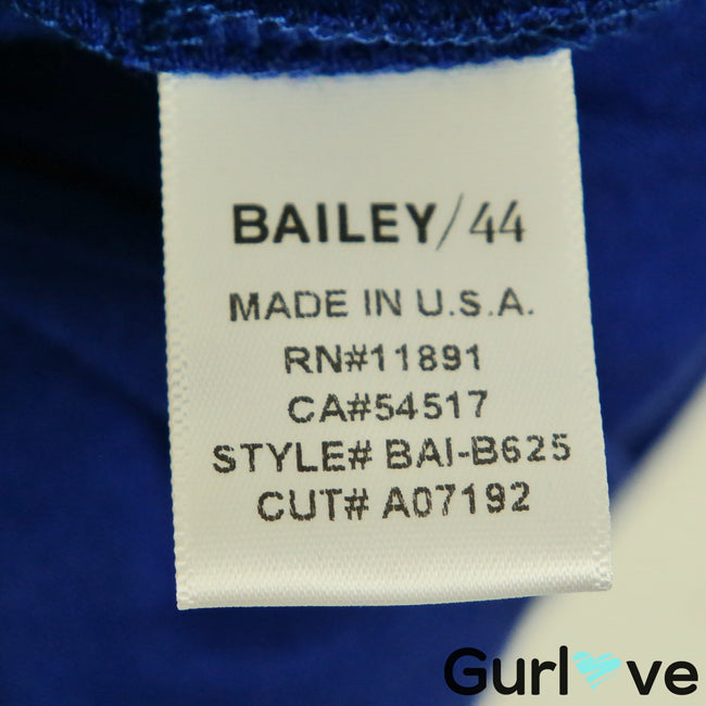 Bailey 44 Size M Blue Sleeveless Tie Draped Blouse