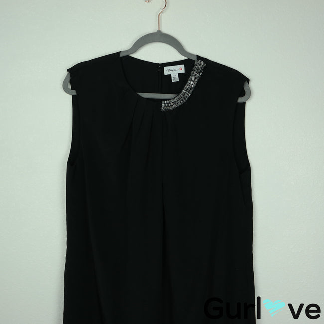 3.1 Phillip Lim Target L Black Jewel Loose Sleeveless Midi Dress