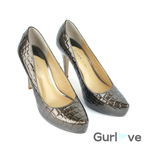 Gianni Bini Animal Print Brown High Heels Size 7 M