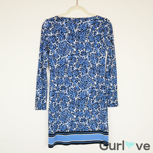 Michael Kors Blue Floral Dress Size P