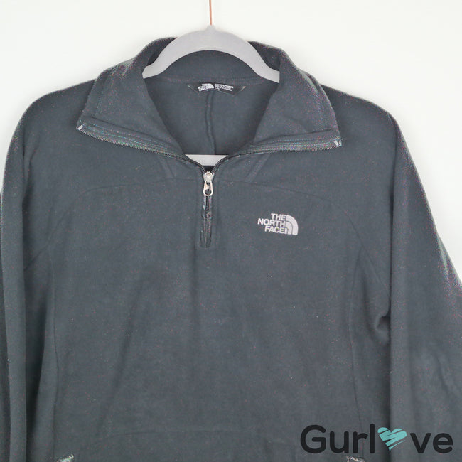 The North Face Women Black Half Zip Jacket Size L