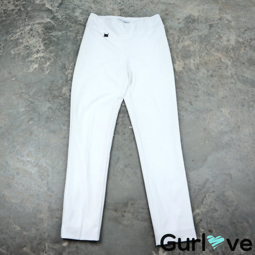 Joseph Ribkoff 6 White Stretch Slim Pants