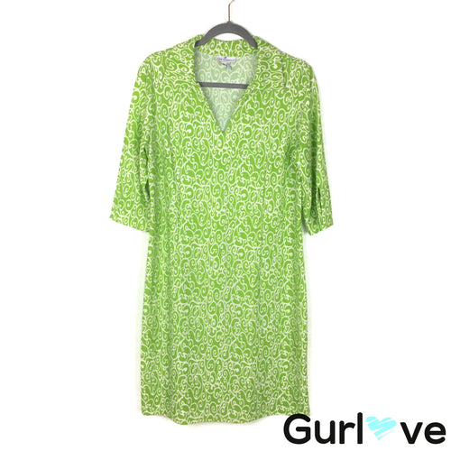 Jude Connally Size XL Green 3/4 Sleeve Dress