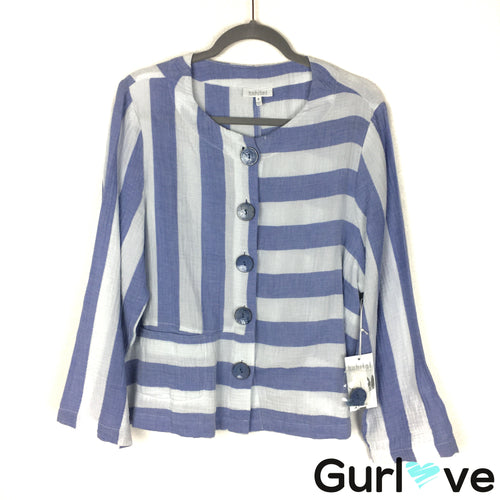 NWT Habitat Size M Blue White Cape Cod Stripe Jacket