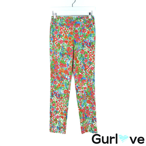 J.McLaughlin Size 0 Multicolored Printed Stretch Casual Pants