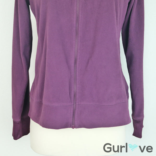 Columbia Burgundy Full Zip Sweater Size M