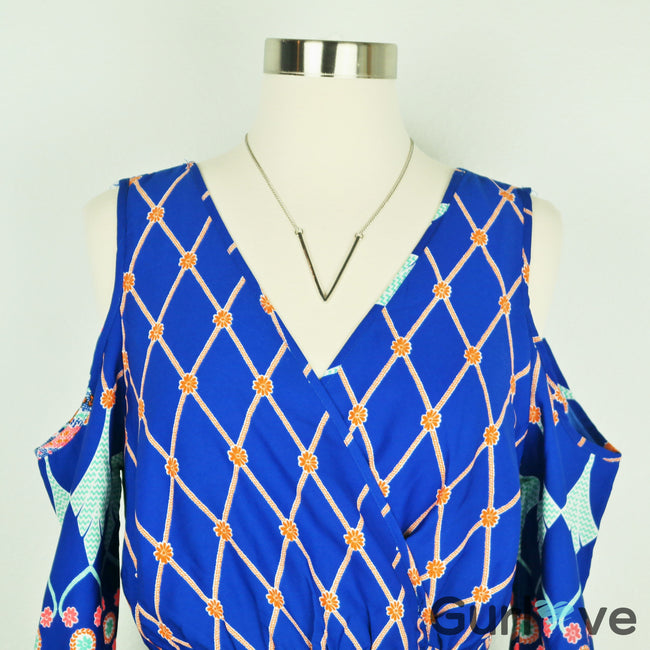 SALE Blue Cold Shoulder Dress Size S