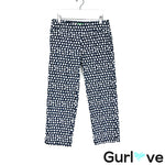 Lilly Pulitzer Navy Lemon Print Palm Beach Fit Crop Pants Size 4