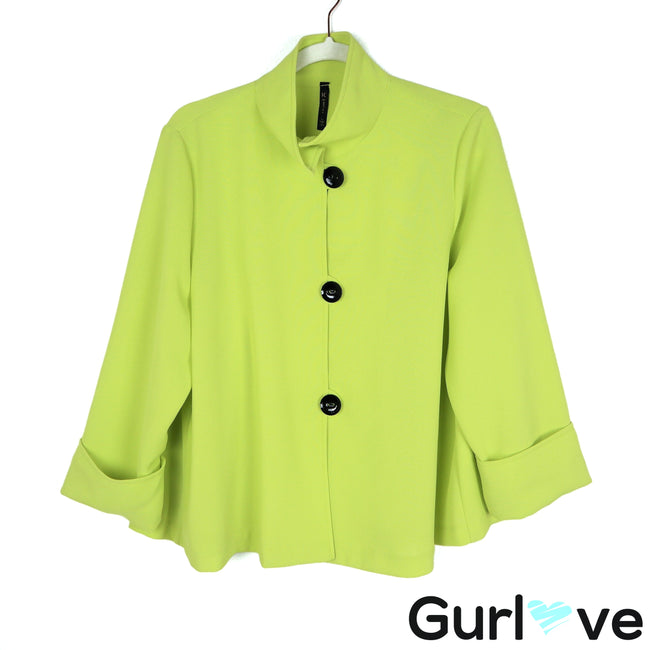 IC by Connie K Size L Green Three Button Jacket