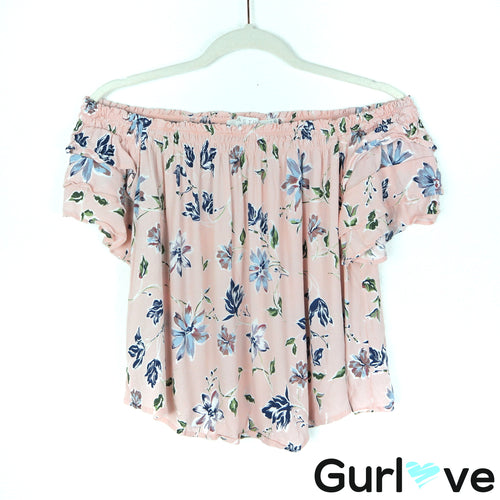 ASTR The Label Size S Floral Off Shoulder Top