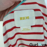 Anthropologie Maeve Size S Striped One Shoulder Mini Dress