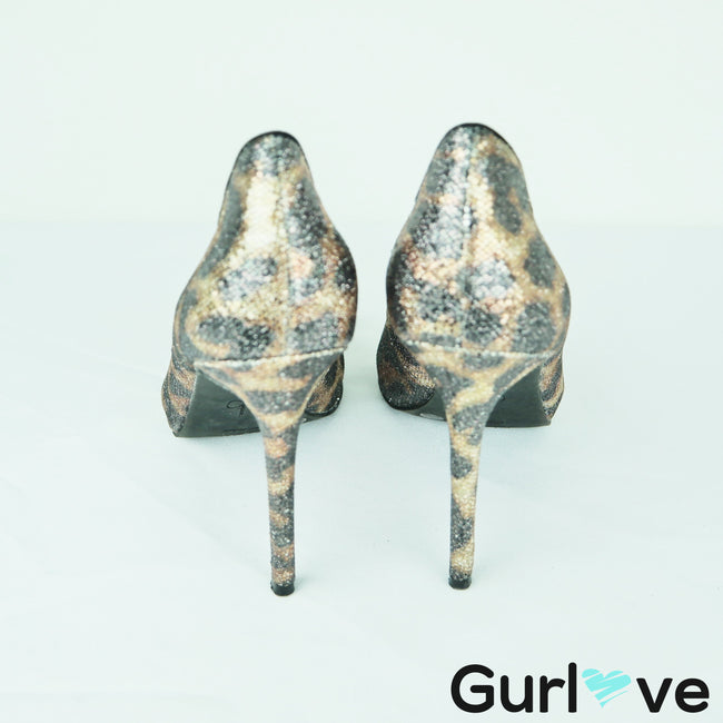 Jessica Simpson Animal Print Avalyn Pointed Toe Heels Size 7M