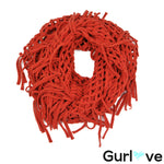 Mudd Orange Fringes Infinity Scarf