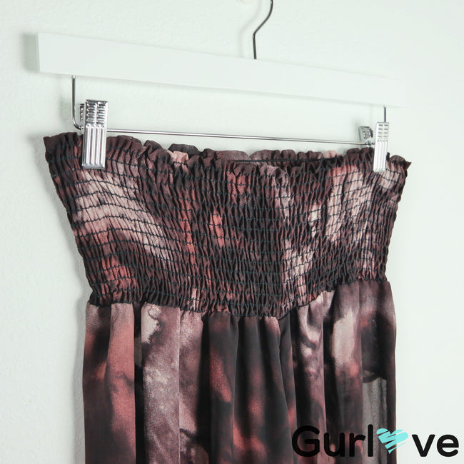 Show Me You Mumu Maroon Printed Roberts Party Pants Size S