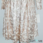SALE NWT Gianni Bini Gold Sequins Long Sleeve Dress Size M