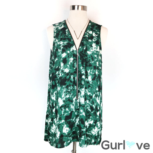 Trouve Green Sleeveless Blouse Size L