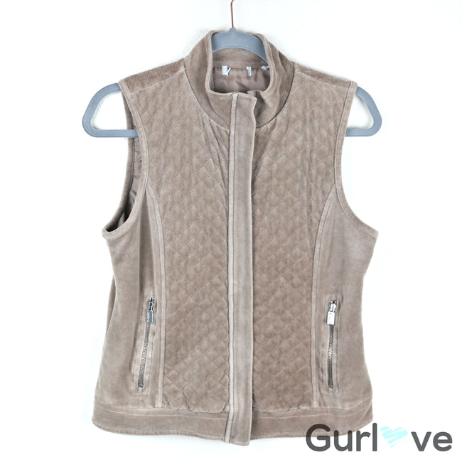 SALE Liz & Co Tan Vest Size S