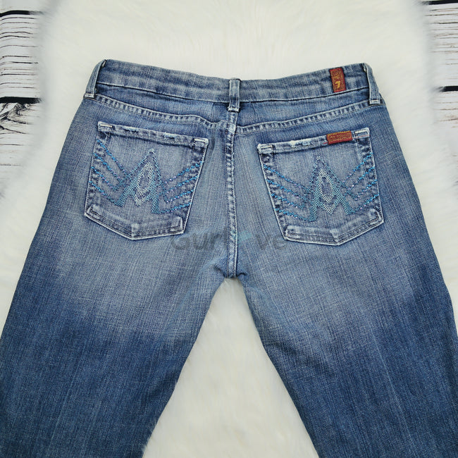 7 For All Mankind A Crystal Jeans Size 27